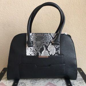 Nine West Black Snake Handbag